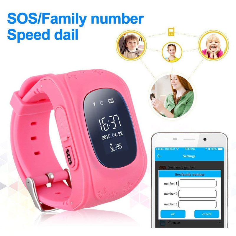 Q50 Kids Smart Watch with GPS Tracker & Kids SOS Calling compatible with Android/iOS devices