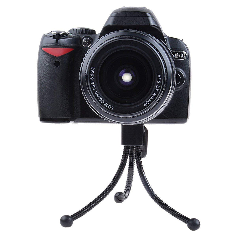 Compact Flexible Tabletop Mini Tripod with Mount for all Mobile Phones and Digital Cameras