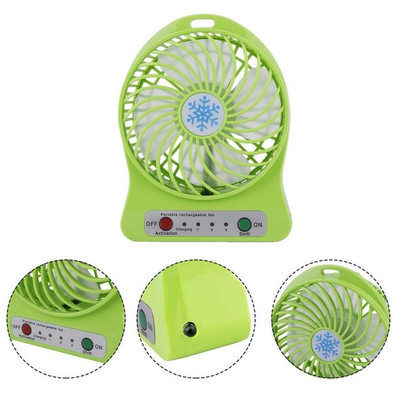 Portable USB Rechargeable Fan with LED