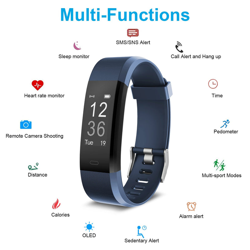 FitFlex Activity Tracker & Fitness Band with Heart Rate & Sleep Monitor