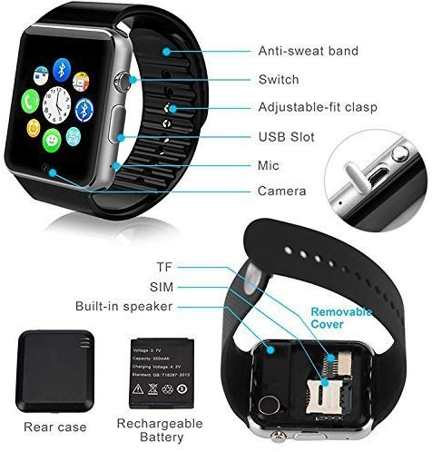 Riotwired A1 Bluetooth Apple Lookalike Smart Watch
