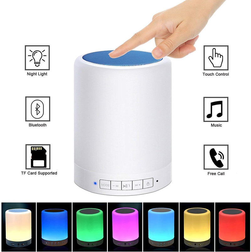 Wireless Portable Bluetooth Lamp Speaker with Smart Touch and Microphone