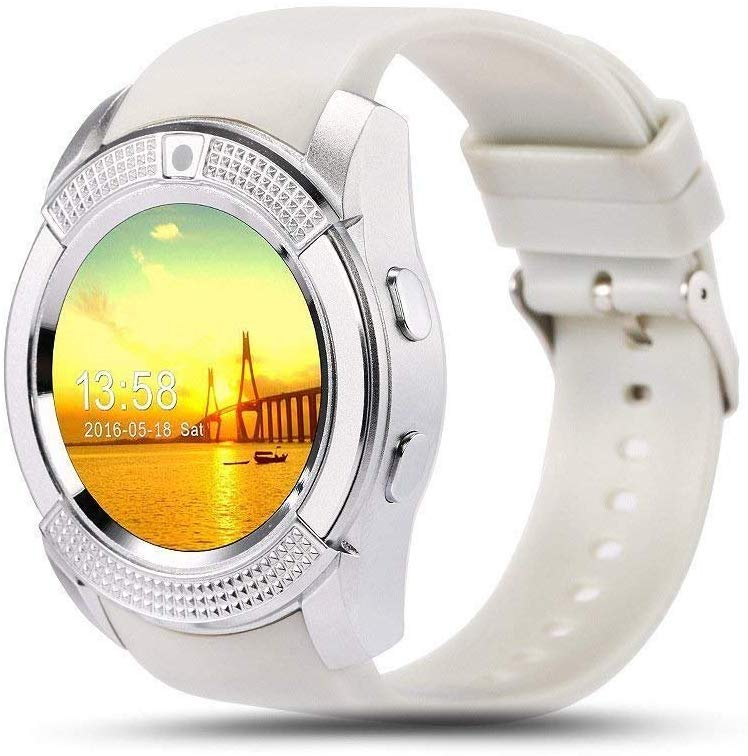 Riotwired V8 Bluetooth Smart Watch with Camera & Sleep Monitor for Android and iOS devices