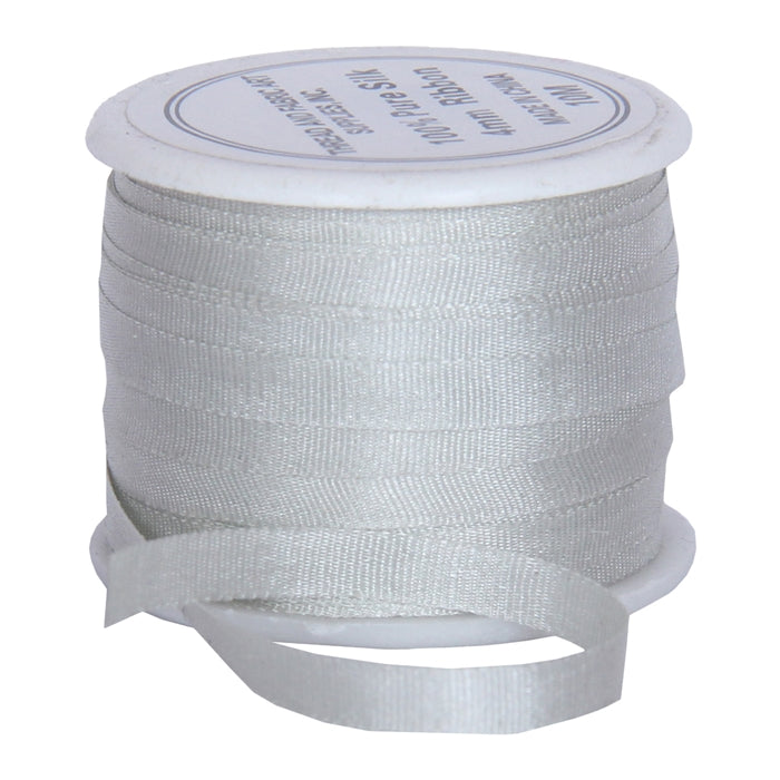 Silk Ribbon 4mm Whisper Grey x 10 Meters No. 459 - Threadart.com