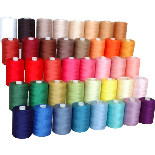 Quilting Thread Bundle - 40 Spools of Premium Cotton - 1000 Meters Each - Threadart.com