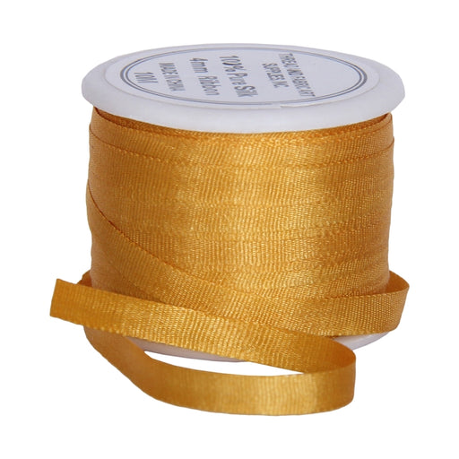 Silk Ribbon 4mm Orange Yellow x 10 Meters No. 511 - Threadart.com