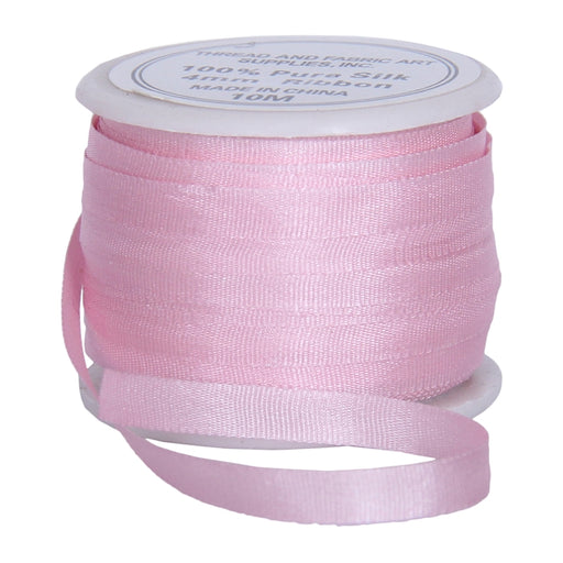Silk Ribbon 4mm Pink x 10 Meters No. 544 - Threadart.com