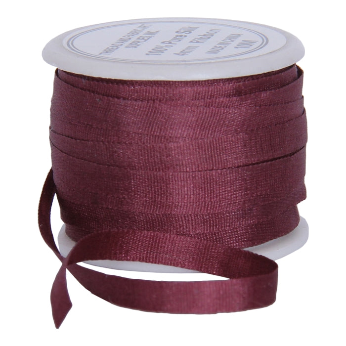 Silk Ribbon 4mm Cocoa  x 10 Meters No. 563 - Threadart.com