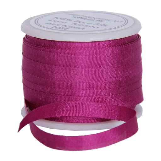 Silk Ribbon 4mm Mulberry x 10 Meters No. 568 - Threadart.com