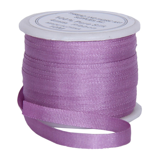 Silk Ribbon 4mm Lavender x 10 Meters No. 571 - Threadart.com