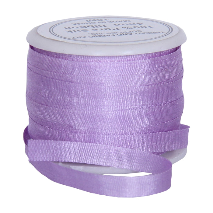 Silk Ribbon 4mm Lt Purple  x 10 Meters No. 574 - Threadart.com