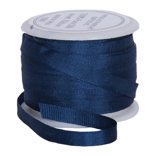 Silk Ribbon 4mm Navy x 10 Meters No. 590 - Threadart.com