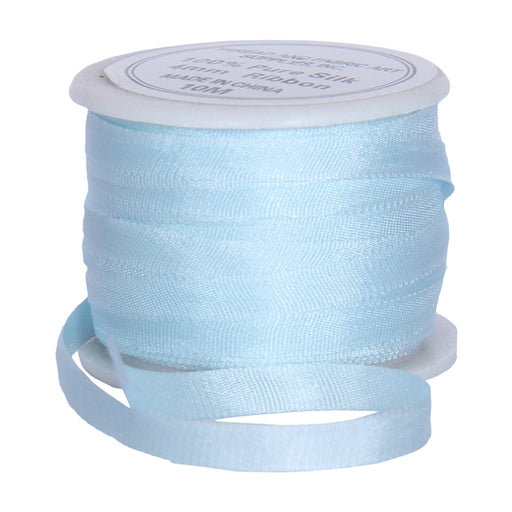 Silk Ribbon 4mm Pale Blue x 10 Meters No.  600 - Threadart.com