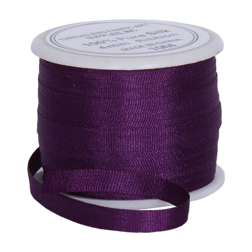 Silk Ribbon 4mm Purple Passion x 10 Meters No. 601 - Threadart.com