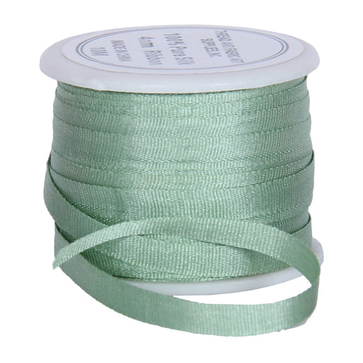 Silk Ribbon 4mm Seafoam Green x 10 Meters No. 618 - Threadart.com