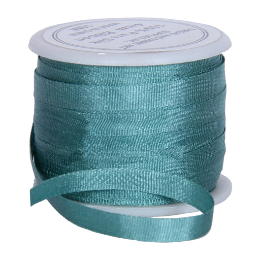 Silk Ribbon 4mm Teal x 10 Meters No. 625 - Threadart.com