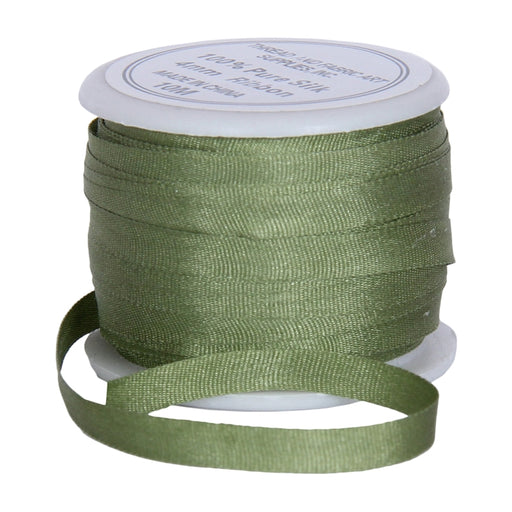 Silk Ribbon 4mm Sage Green x 10 Meters No. 633 - Threadart.com