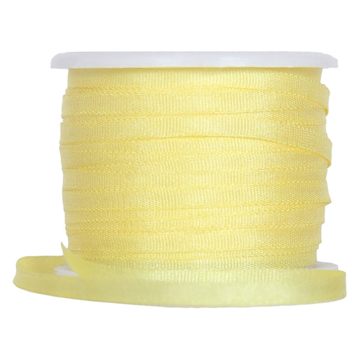 Silk Ribbon 4mm Yellow x 10 Meters No. 656 - Threadart.com