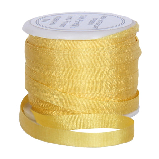 Silk Ribbon 4mm Sun Gold x 10 Meters No. 666 - Threadart.com