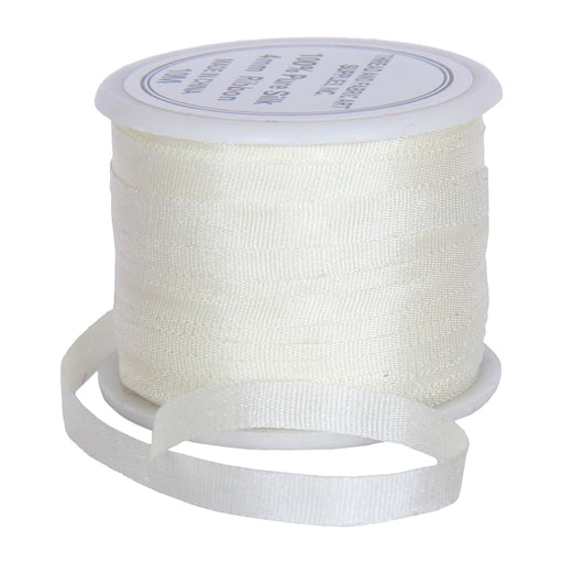 Silk Ribbon 4mm Natural x 10 Meters No. 700 - Threadart.com