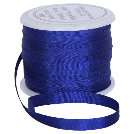 Silk Ribbon 4mm Sapphire Blue x 10 Meters No. 701 - Threadart.com