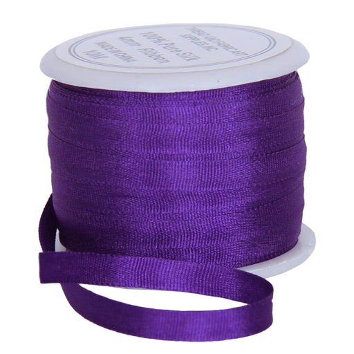 Silk Ribbon 4mm Purple x 10 Meters No. 703 - Threadart.com