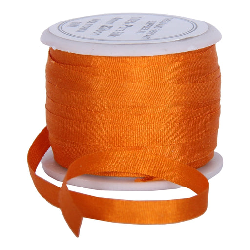 Silk Ribbon 4mm Orange x 10 Meters No. 705 - Threadart.com