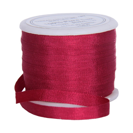 Silk Ribbon 4mm Burgundy  x 10 Meters No. 707 - Threadart.com