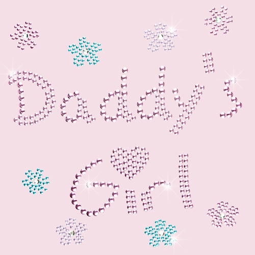Hot Fix Rhinestone Heat Transfer Motif Daddys Girl - Threadart.com