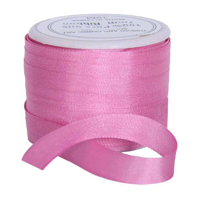 Silk Ribbon 7mm Dusty Rose x 10 Meters No. 565 - Threadart.com