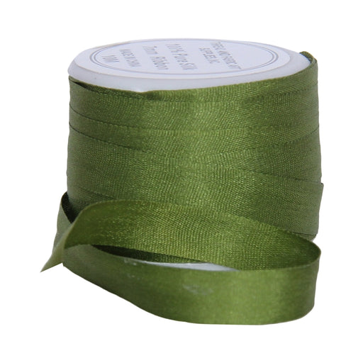 Silk Ribbon 7mm Dk Sage x 10 Meters No. 653 - Threadart.com