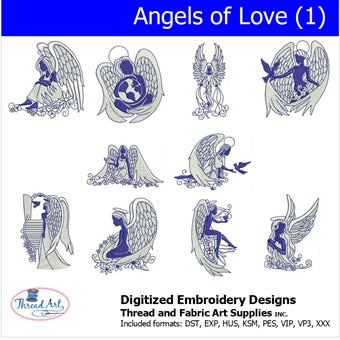 Machine Embroidery Designs - Angels of Love(1) - Threadart.com