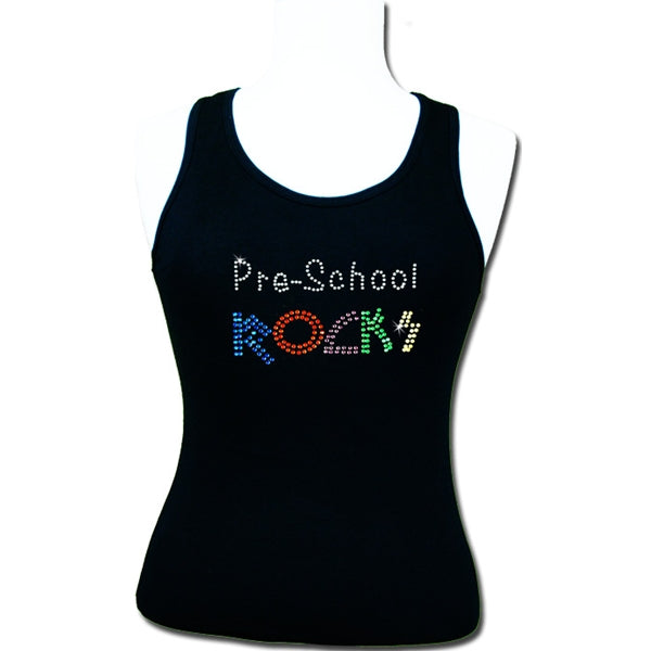 Hot Fix Heat Transfer Rhinestone Motif Pre-School Rocks - Threadart.com