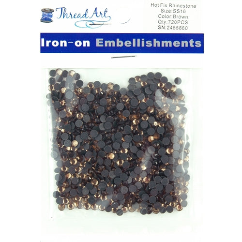Hot Fix Rhinestones-ss16-Brown - 720 stones - Threadart.com