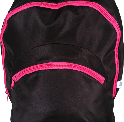 Large Backpack - Black/Hot Pink - Threadart.com