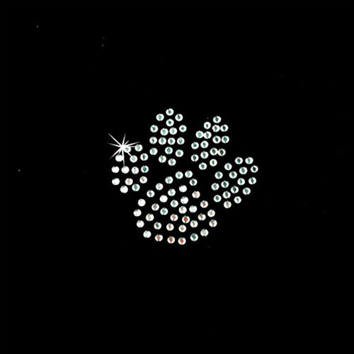 Hot FixHeat Transfer Rhinestone Motif Paw Crystal - Small - Threadart.com