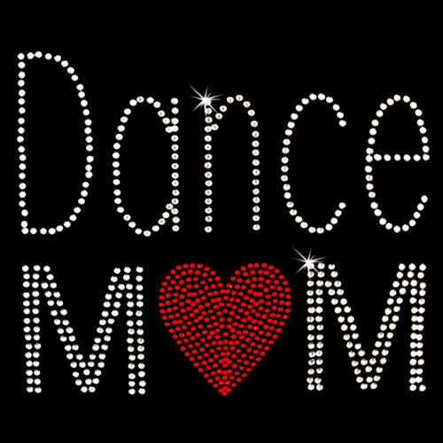 Hot Fix Heat Transfer Rhinestone Motif Dance Mom - Threadart.com