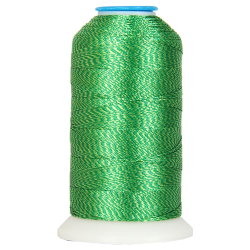 Color Twist Polyester Embroidery Thread Green/Lt. Green - No. 8 - Threadart.com