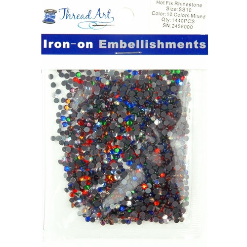 Hot Fix Rhinestones - SS10 - Mixed - 1440 stones - Threadart.com