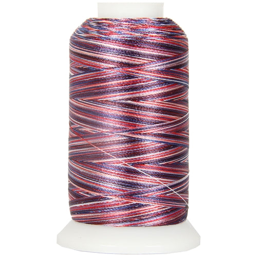 Multicolor Polyester Embroidery Thread No. 2 - Variegated Patriotic - Threadart.com