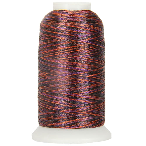 Multicolor Polyester Embroidery Thread No. 20 - Variegated Halloween - Threadart.com