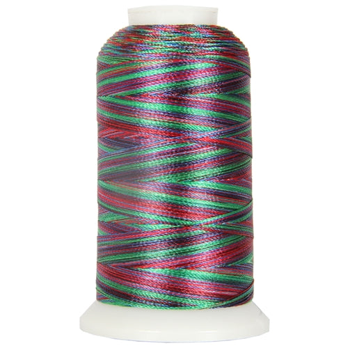 Multicolor Polyester Embroidery Thread No. 21 - Variegated Rainbow - Threadart.com