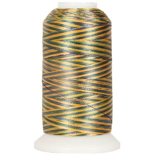 Multicolor Polyester Embroidery Thread No. 23 - Variegated Mardi Gras - Threadart.com