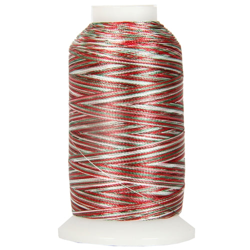 Multicolor Polyester Embroidery Thread No. 6 - Variegated Holiday - Threadart.com
