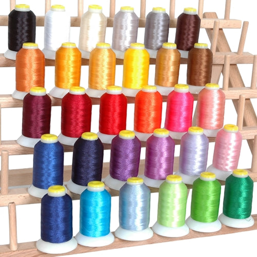 30 Cones of Micro Embroidery & Bobbin  Thread Set- 60 Wt  - 1000 Meters Per Cone - Threadart.com