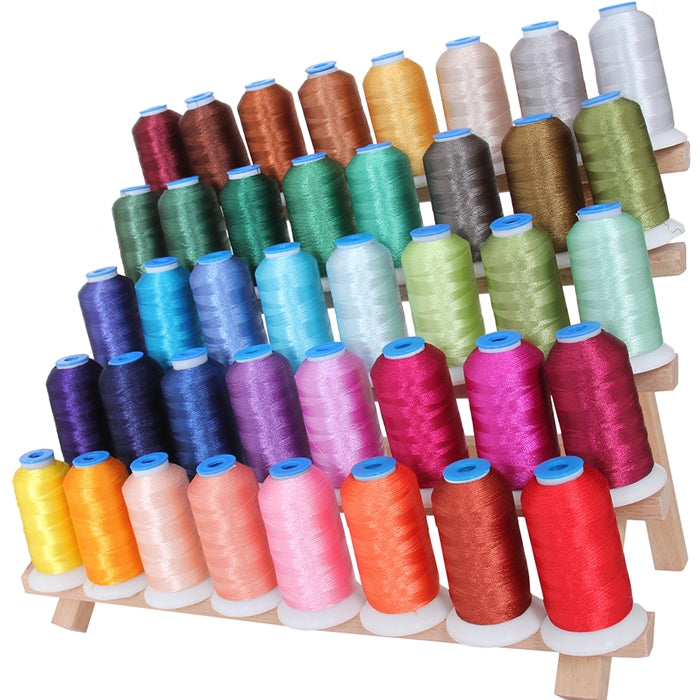 40 Colors Polyester Embroidery Thread Set- 1000M Cones - Set B - Threadart.com