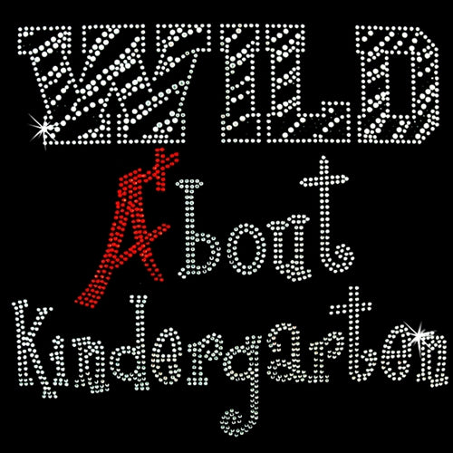 Hot Fix Motif Wild About Kindergarten - Threadart.com