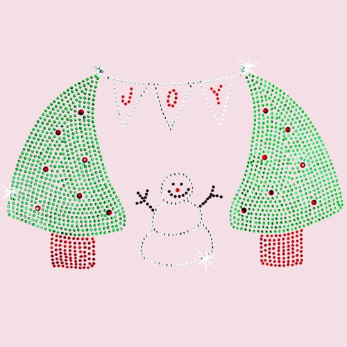 Hot Fix Rhinestone Heat Transfer Motif Joy - Threadart.com