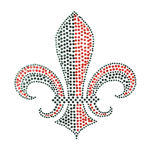 Hot Fix Rhinestone Heat Transfer Motif Fleur 3 - Threadart.com