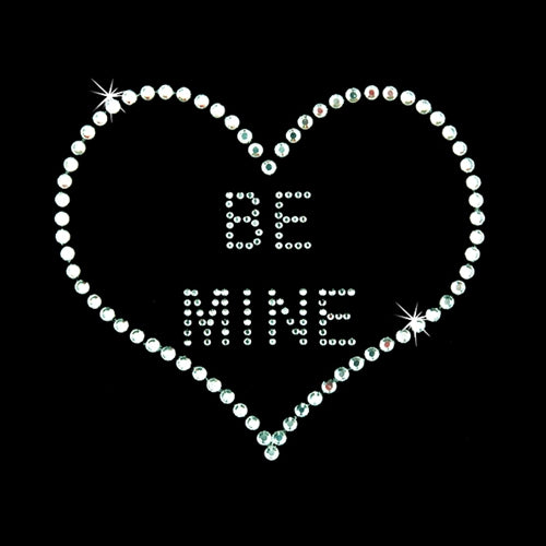 Hot Fix Rhinestone Heat Transfer Motif - Be Mine - Threadart.com